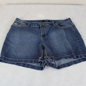 Lane Bryant Embellished Flap Pocket Jeans Shorts
